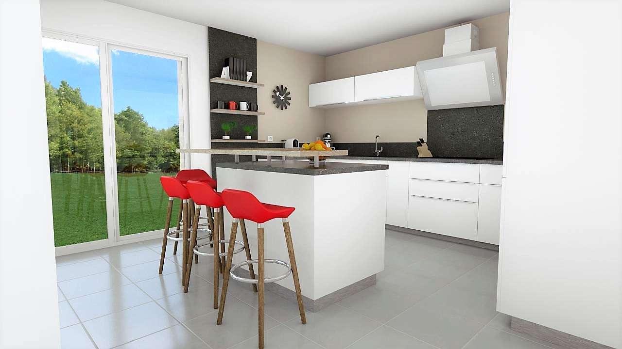 Création d'une cuisine moderne et contemporaine