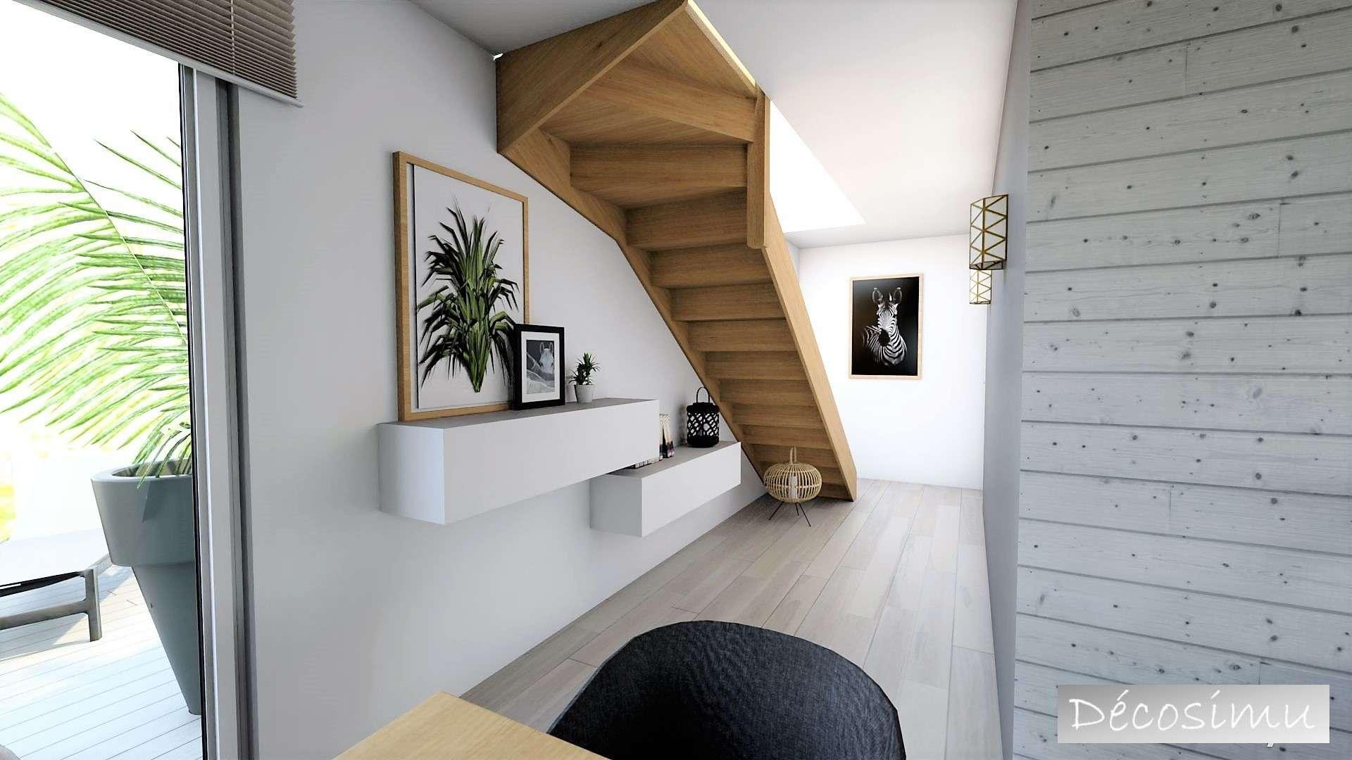 vue 3D sur couloir