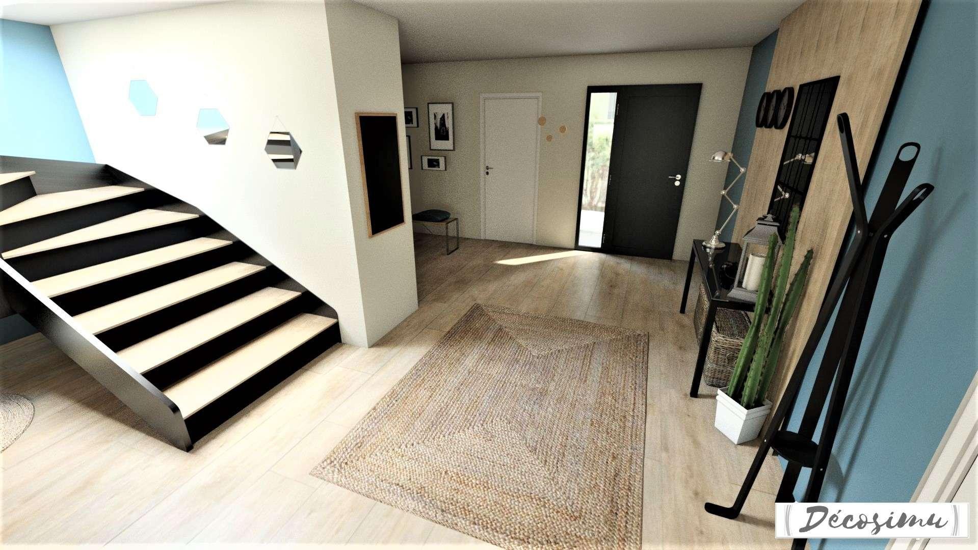 Aménagement et décoration 3D d'une maison contemporaine