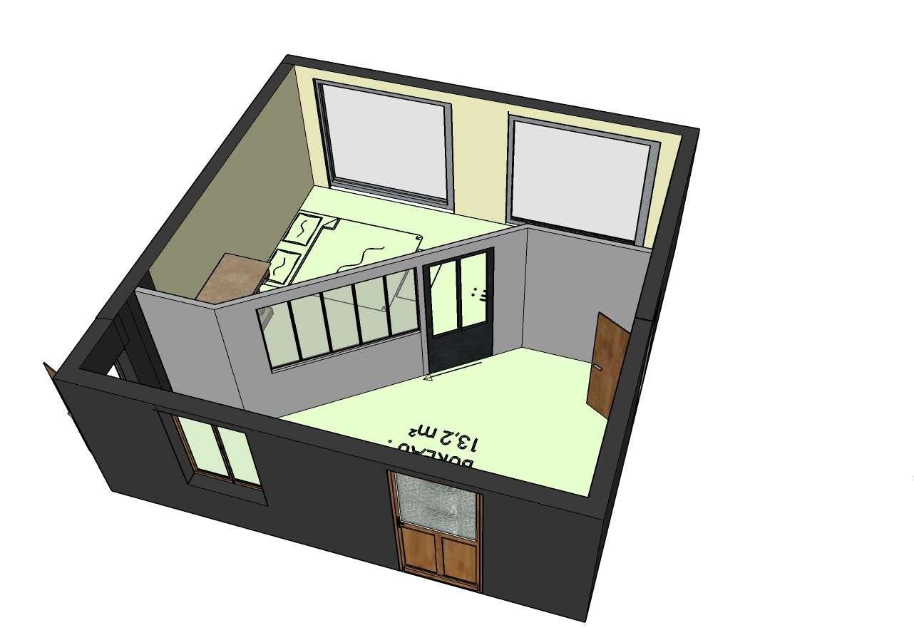 Chambre et bureau.