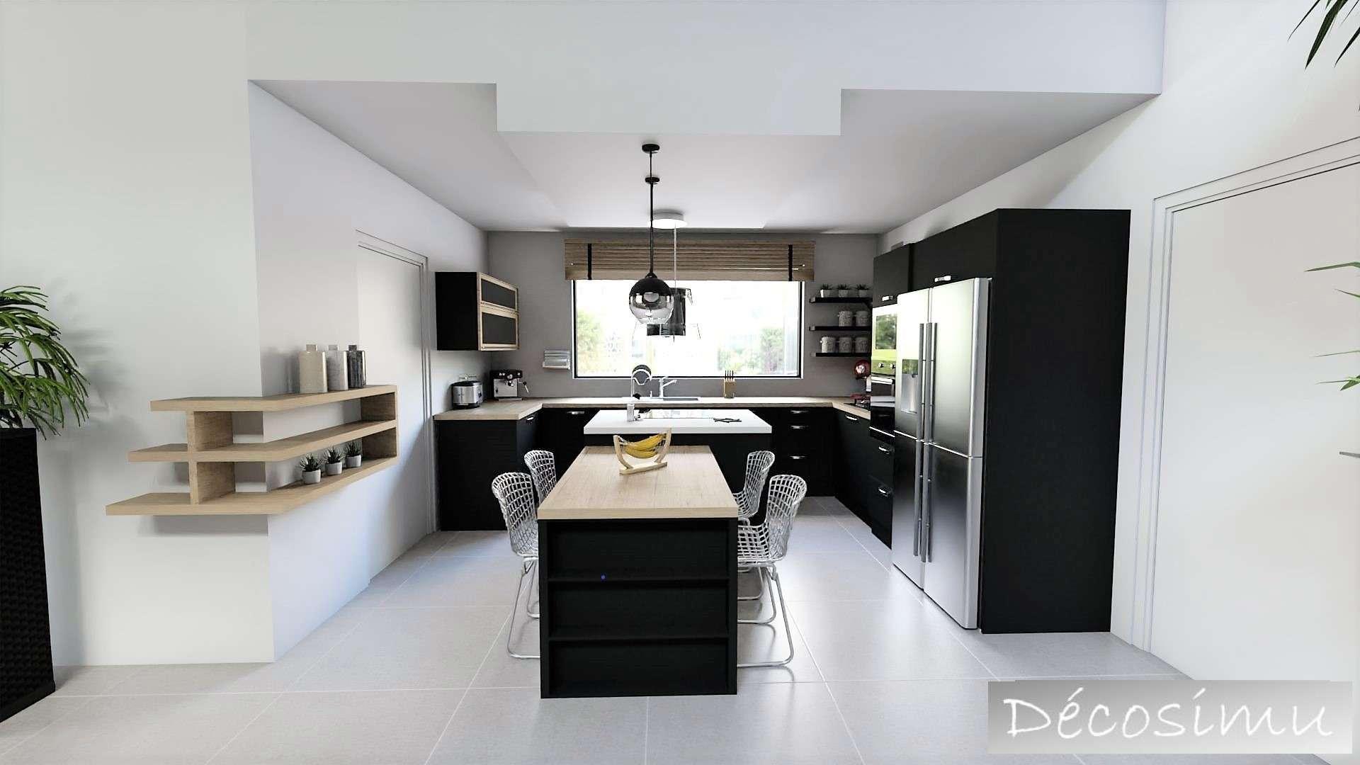 vue 3D sur la cuisine