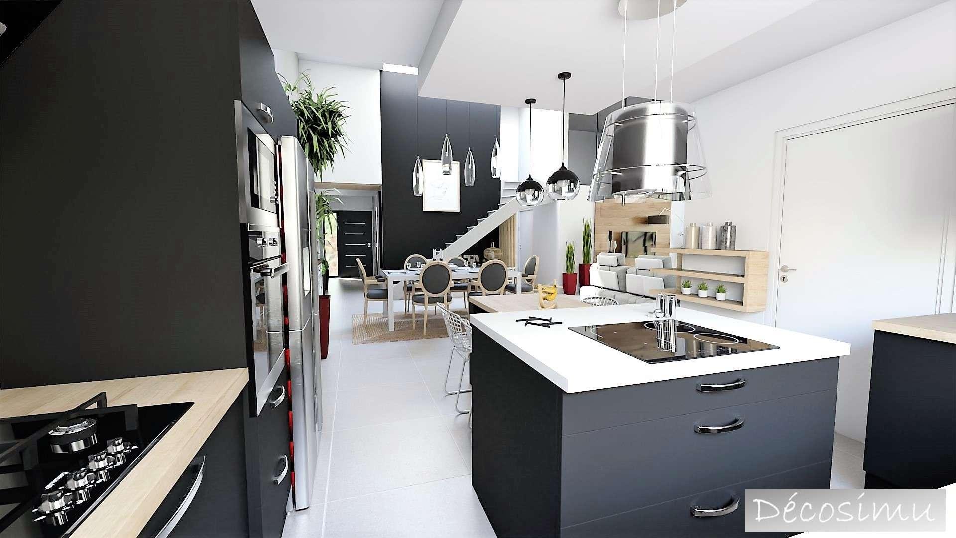vue 3D sur SAM et cuisine