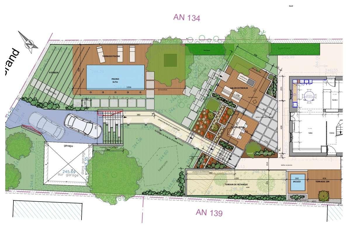 Plan d'aménagement du jardin