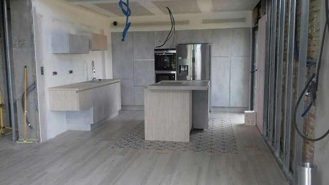 chantier en cours de la cuisine