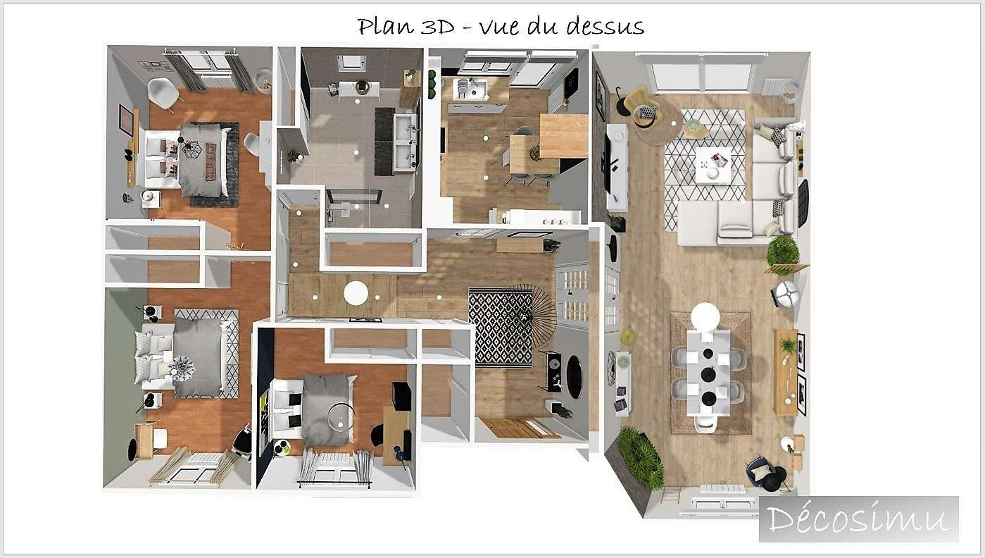 Plan 3D de la maison