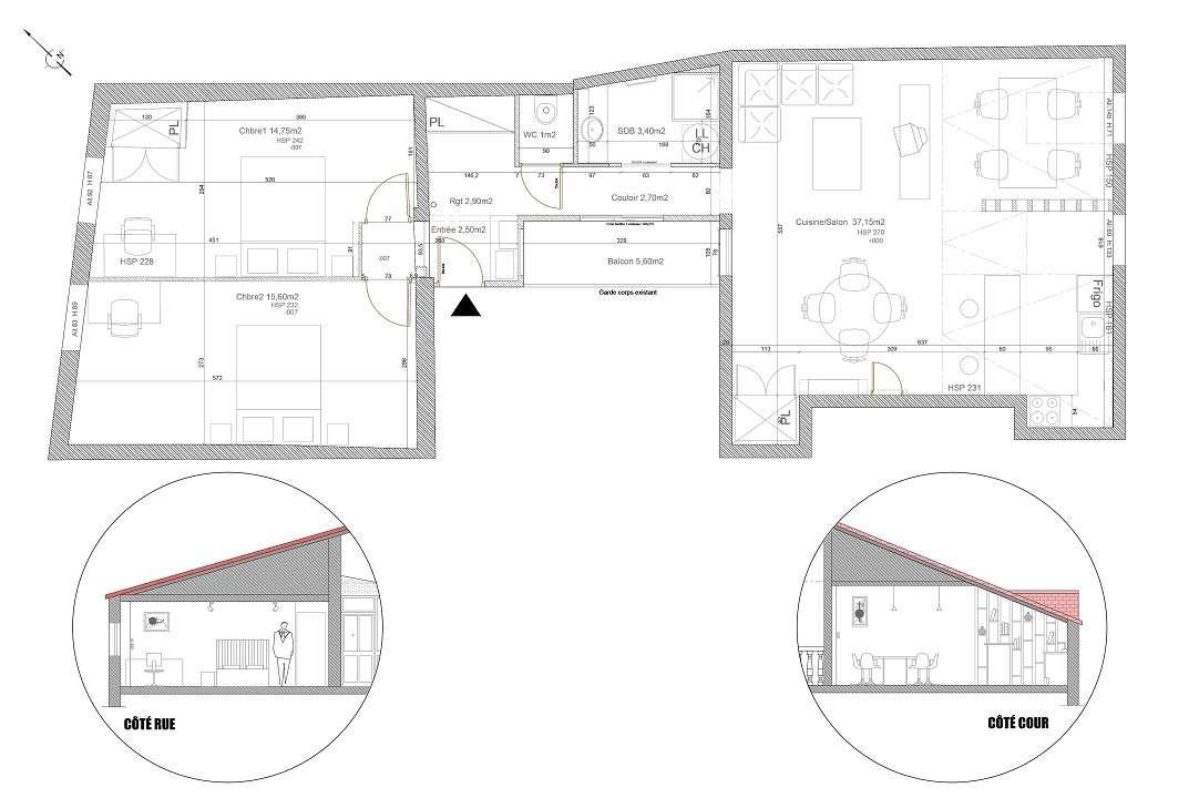 Réhabilitation de deux appartements Limougeauds