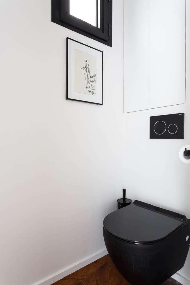 WC design noir et blanc