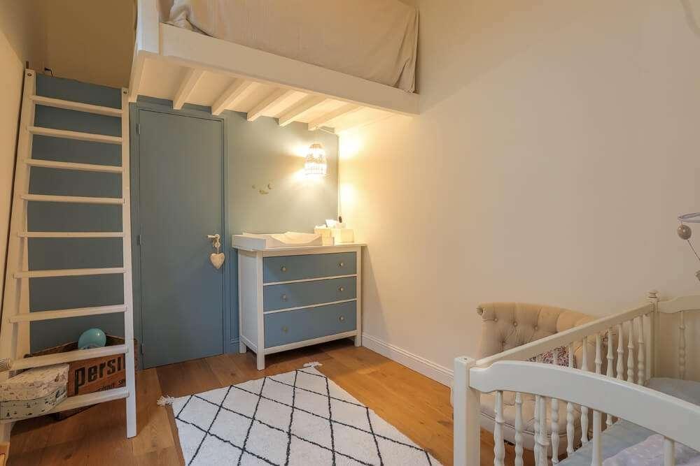 Chambre de bébé bleu pastel