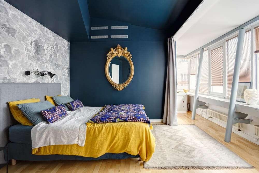 Chambre parentale colorée et lumineuse