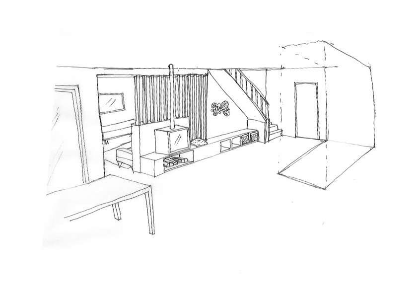 dessin d'un claustra