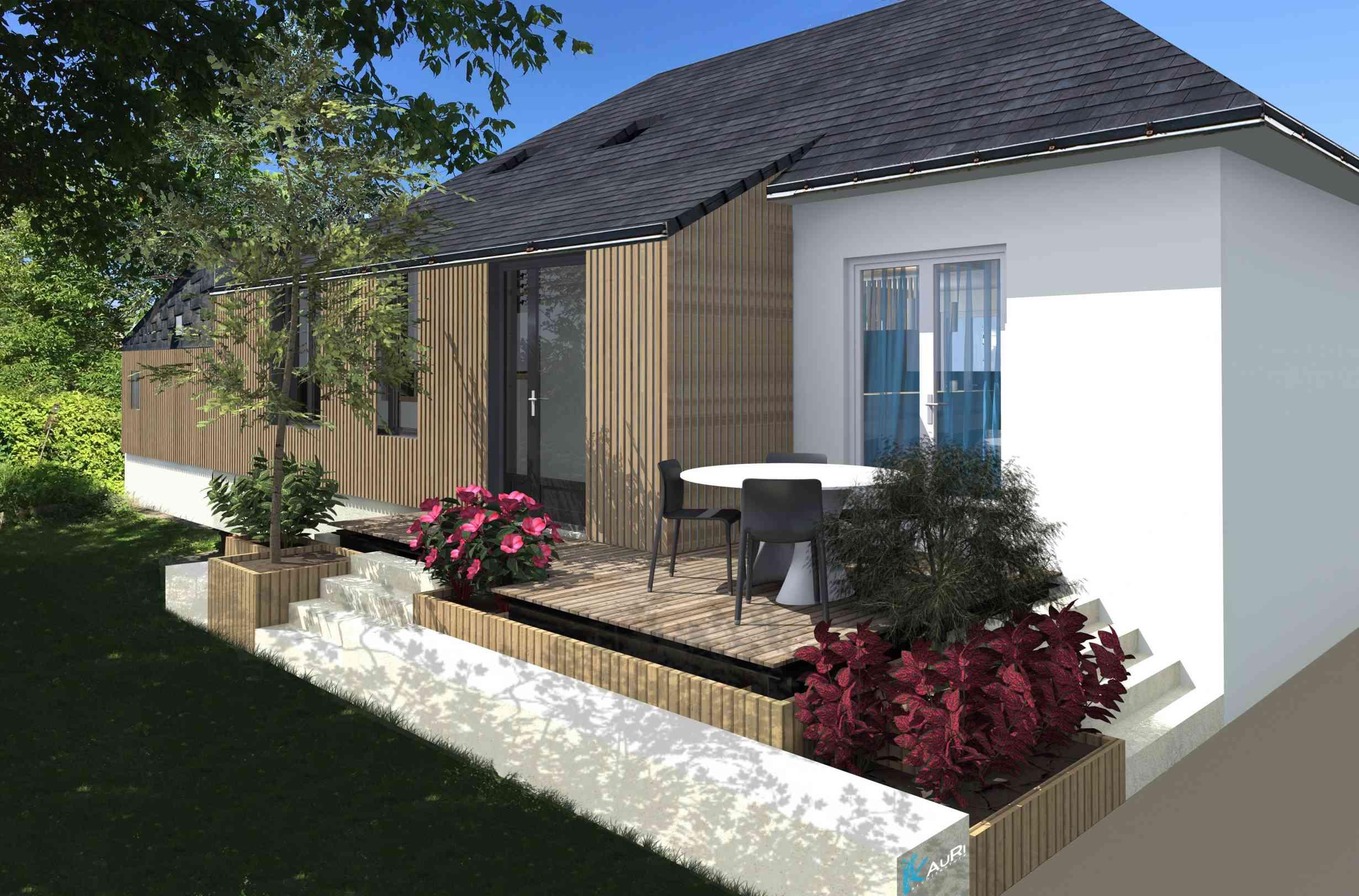 Extension d'une maison de village