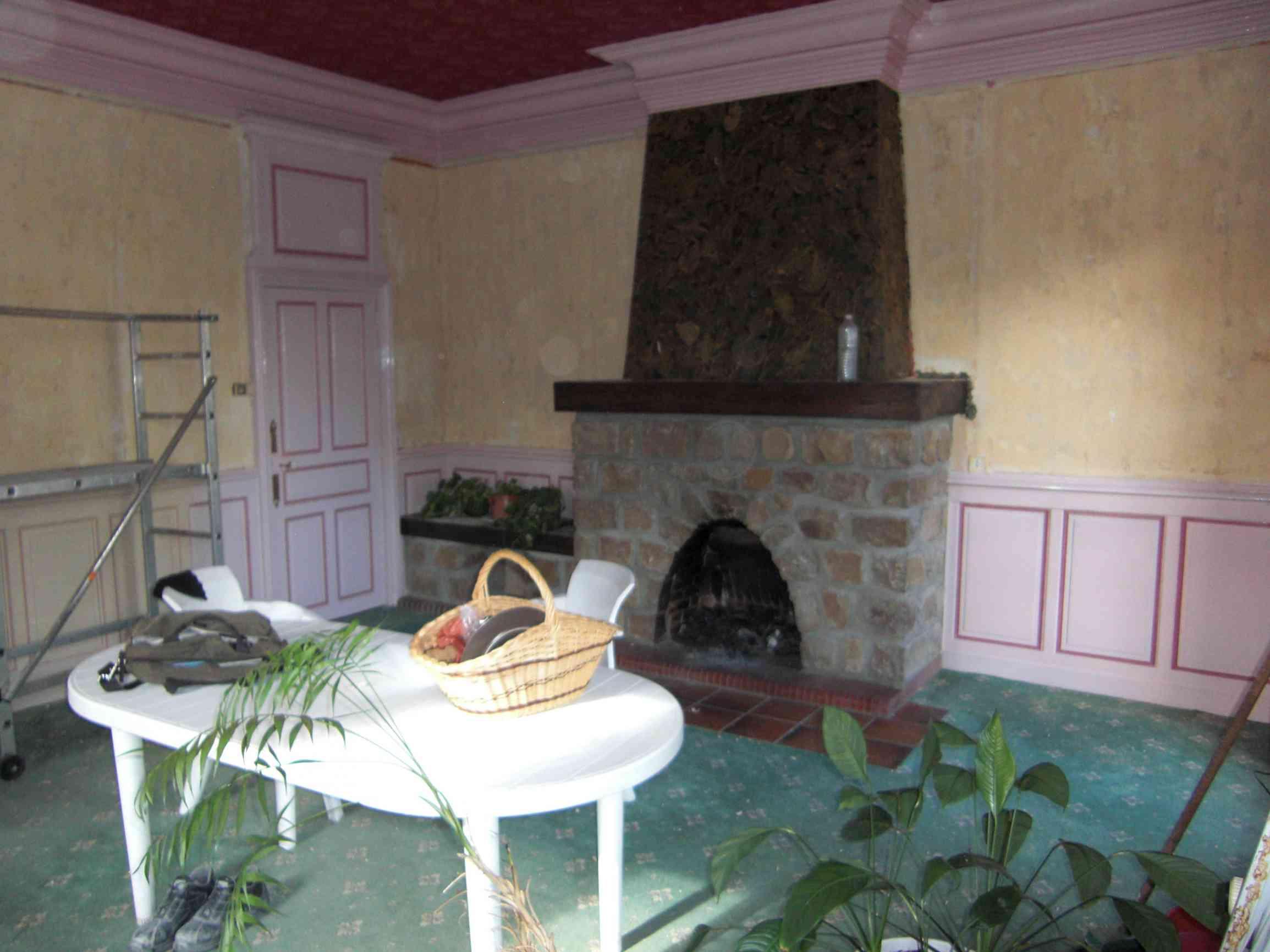 Rénovation du séjour et mise aux norme de la cheminée