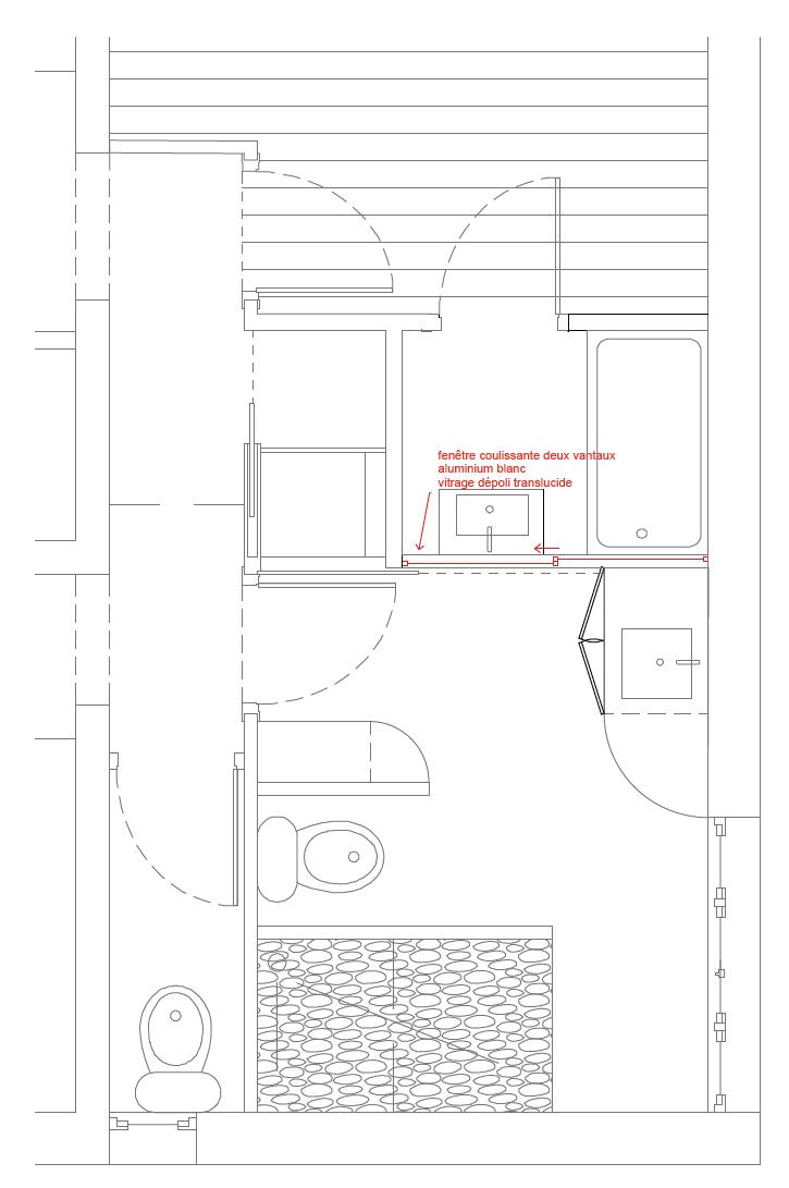 Plan de la salle de bains