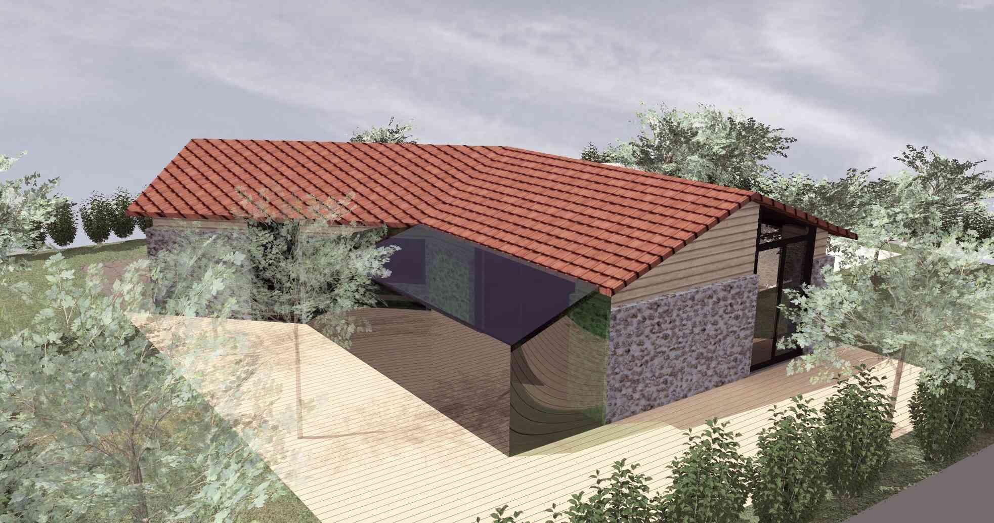 Maison pierre contemporaine