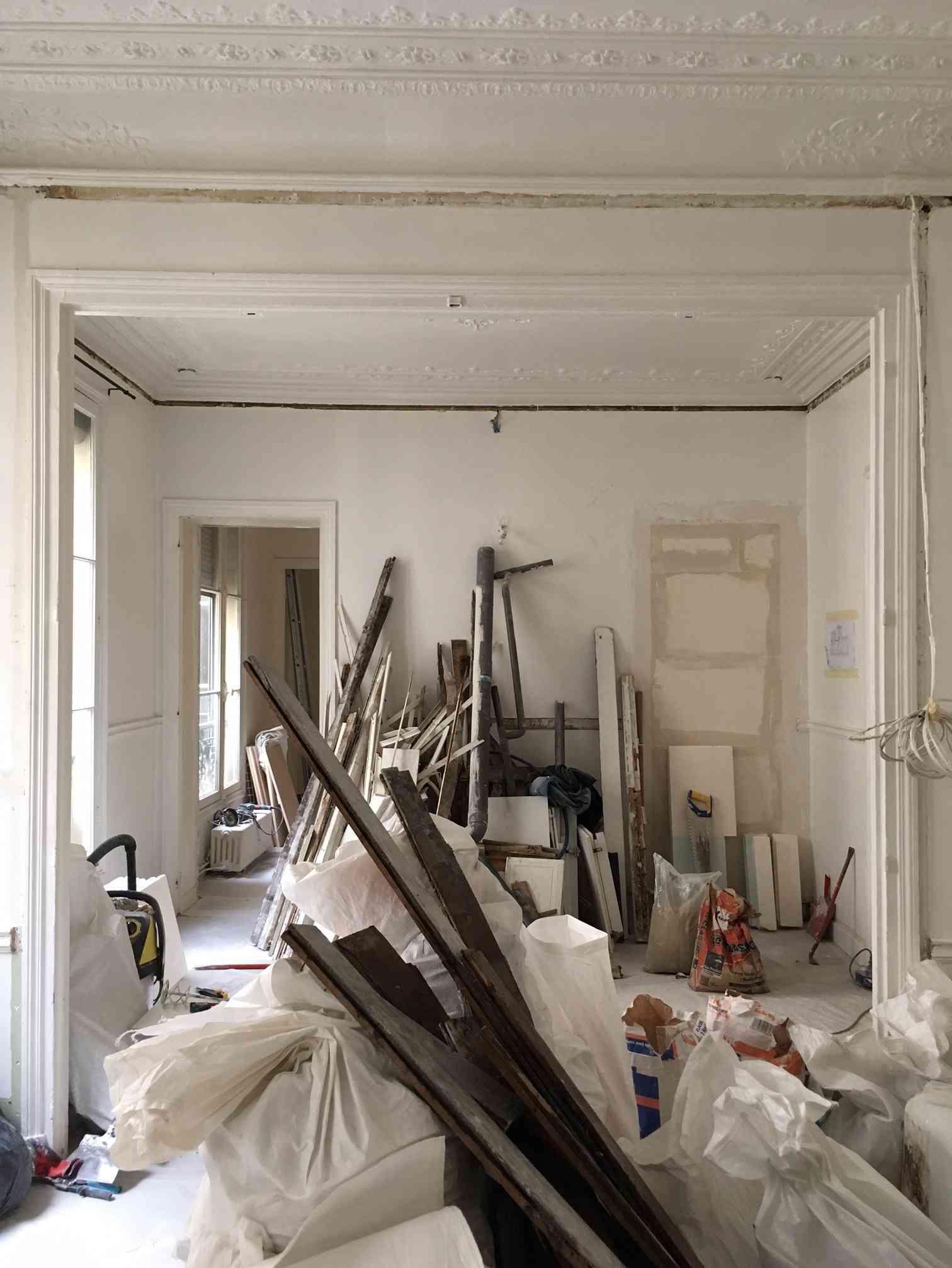 Photo pendant la démolition