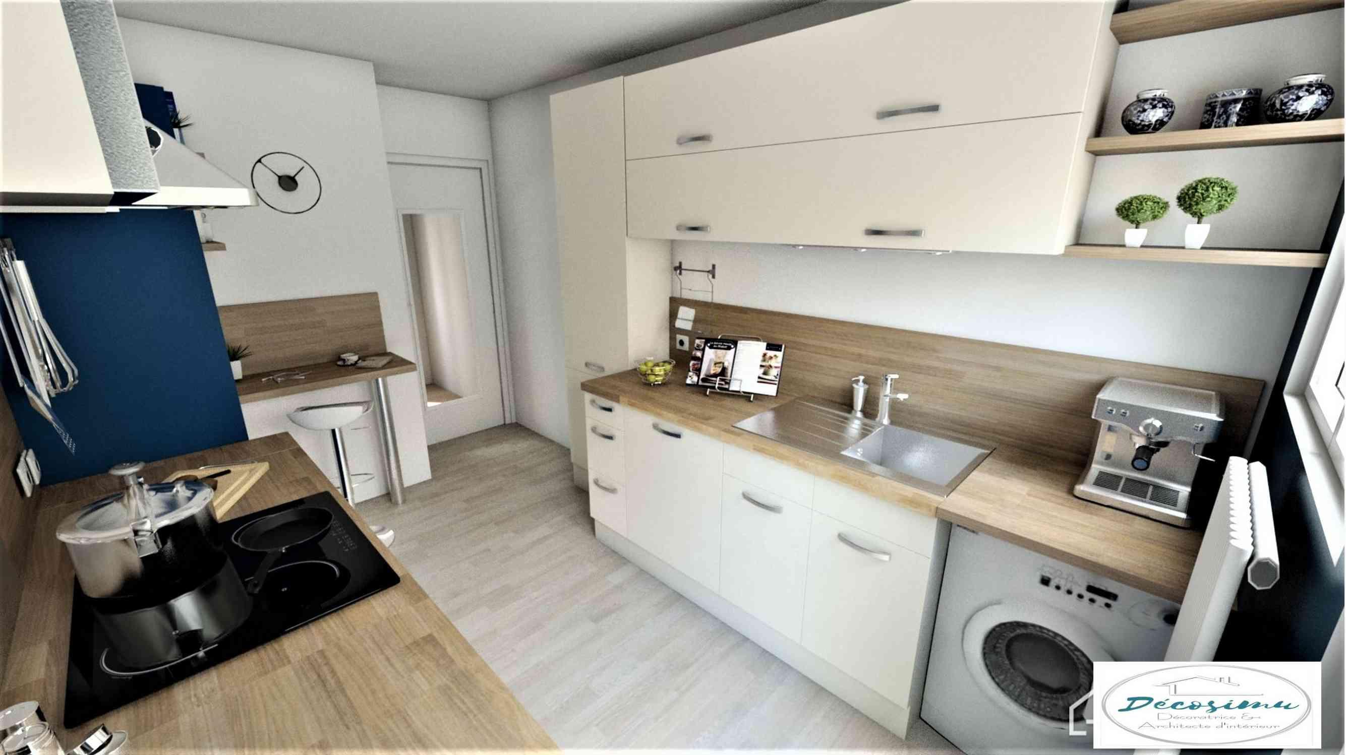 Création et aménagement d'une cuisine contemporaine