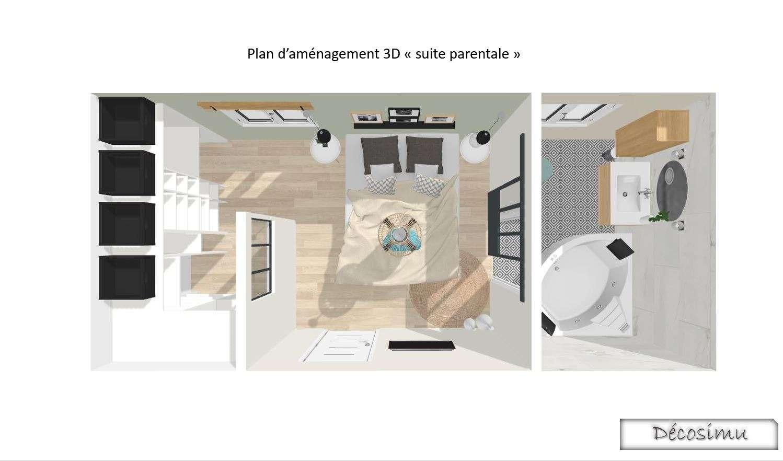 Vue 3D de la chambre