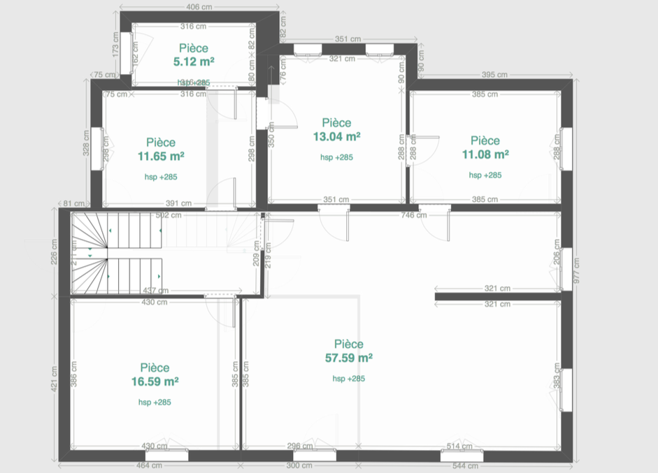 1er étage existant