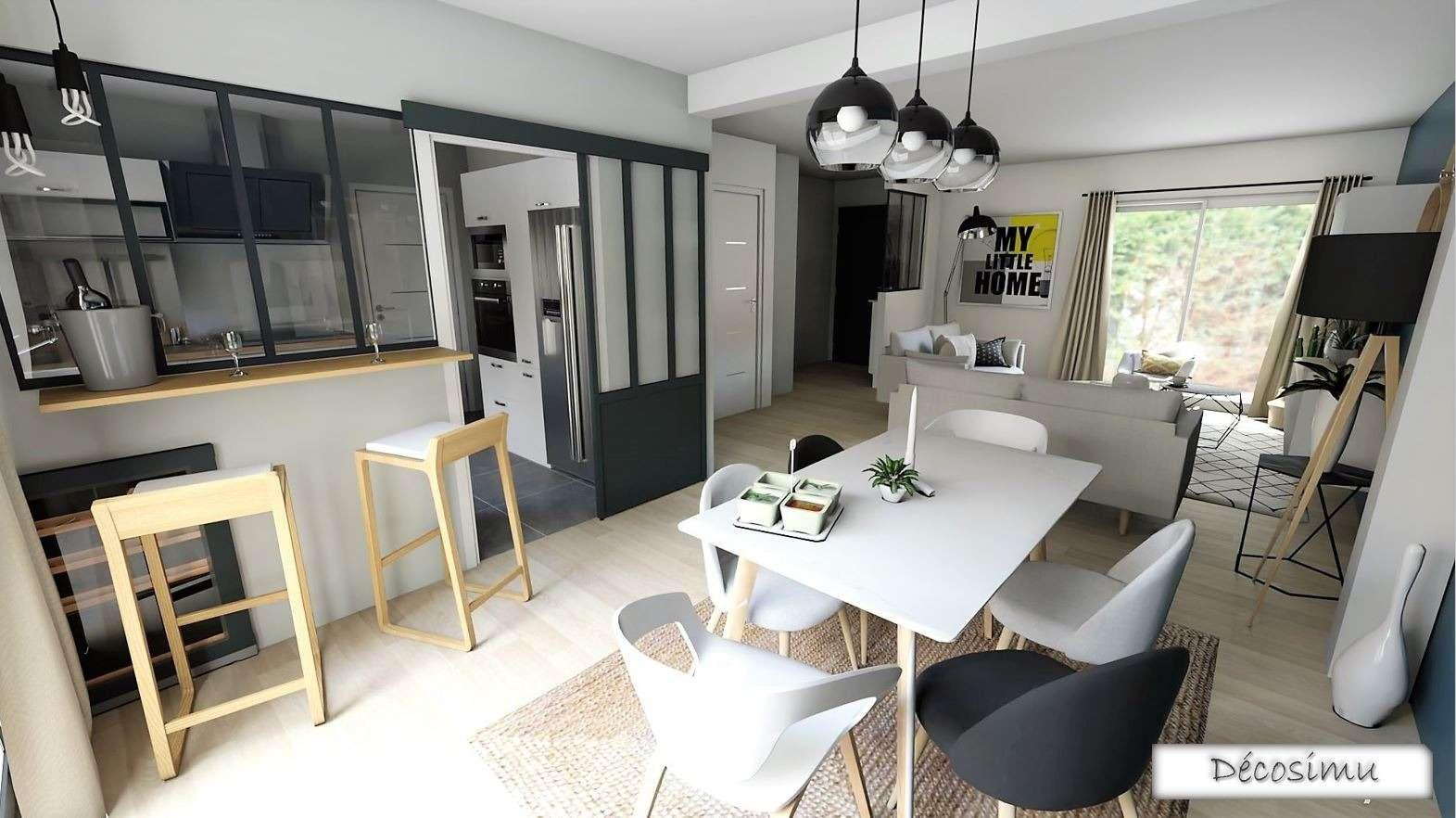 Réalisation d'un projet 3D pour la construction et l'aménagememt d'une maison contemporaine et scandinave