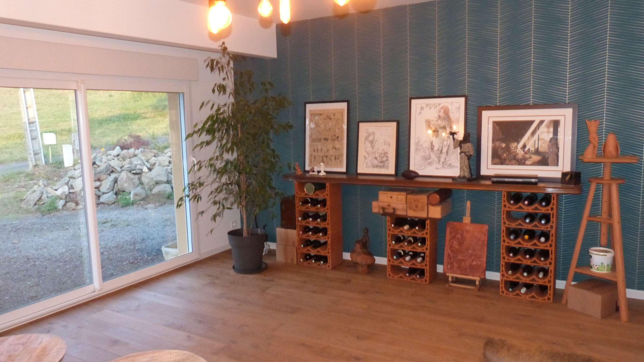 Transformation d'un garage en studio-atelier