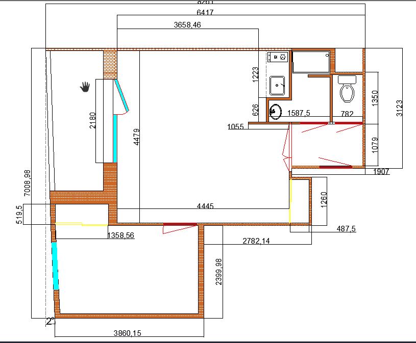 Plan actuel + cotation 2D