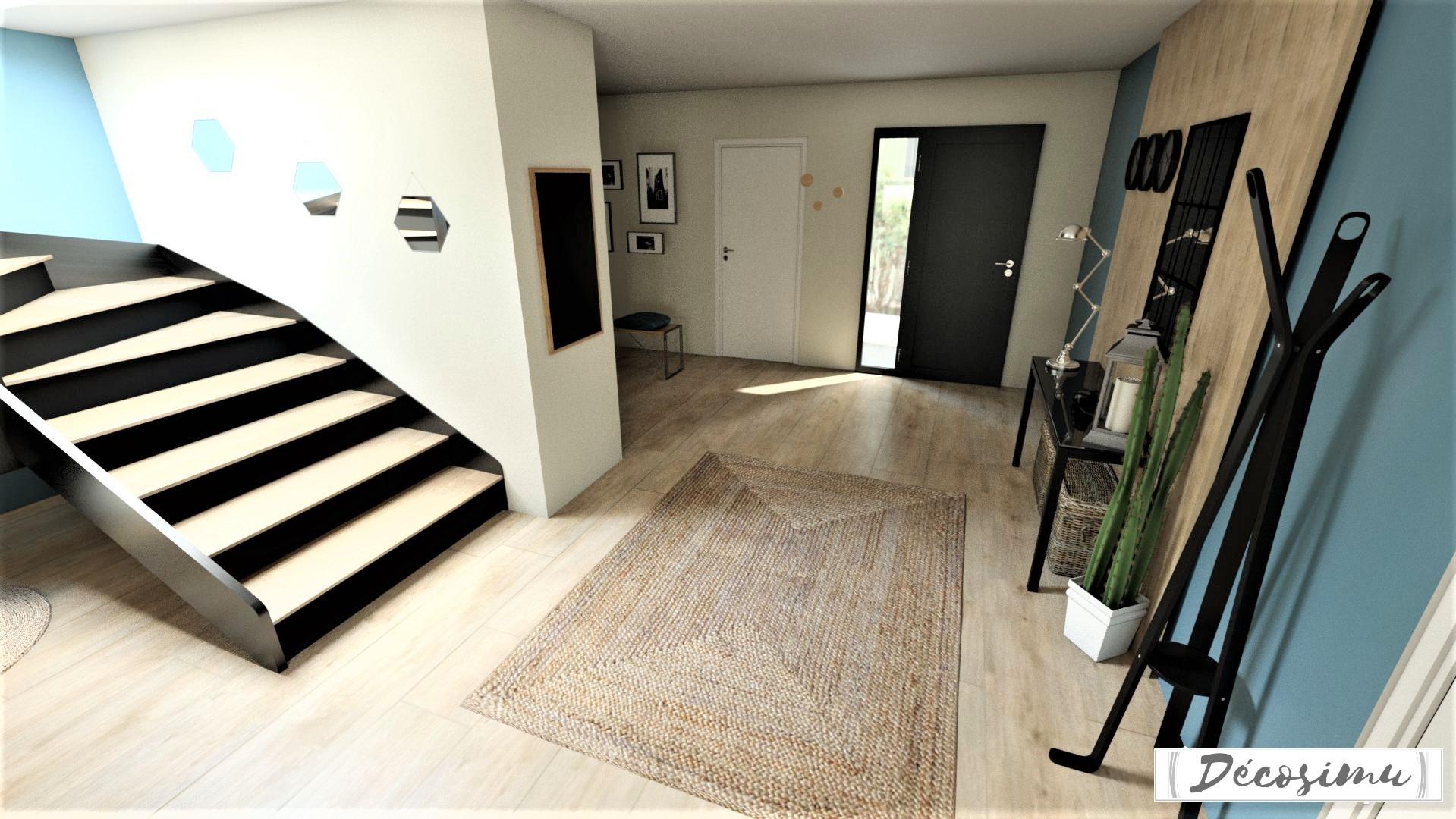 Aménagement et décoration 3D d\'une maison contemporaine - Jeunes Archi