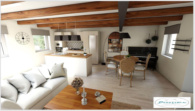 Relooking 3d d 39 une ancienne maison en un style campagne chic jeunes archi - Maison style campagne ...