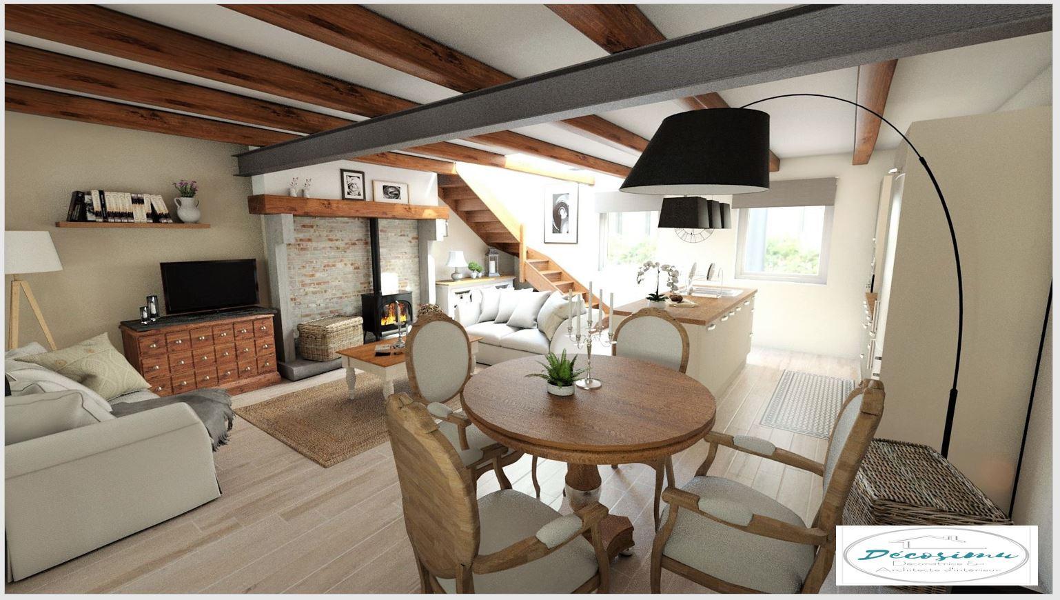 Maison Style Campagne relooking 3d d'une ancienne maison en un style campagne chic