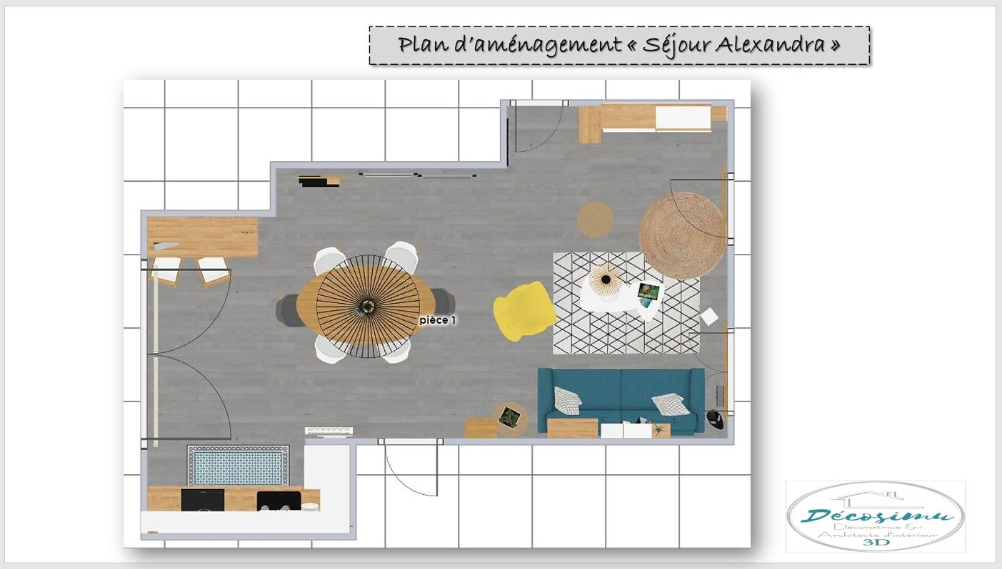 Agencement et décoration 3D d'un appartement en cours de construction
