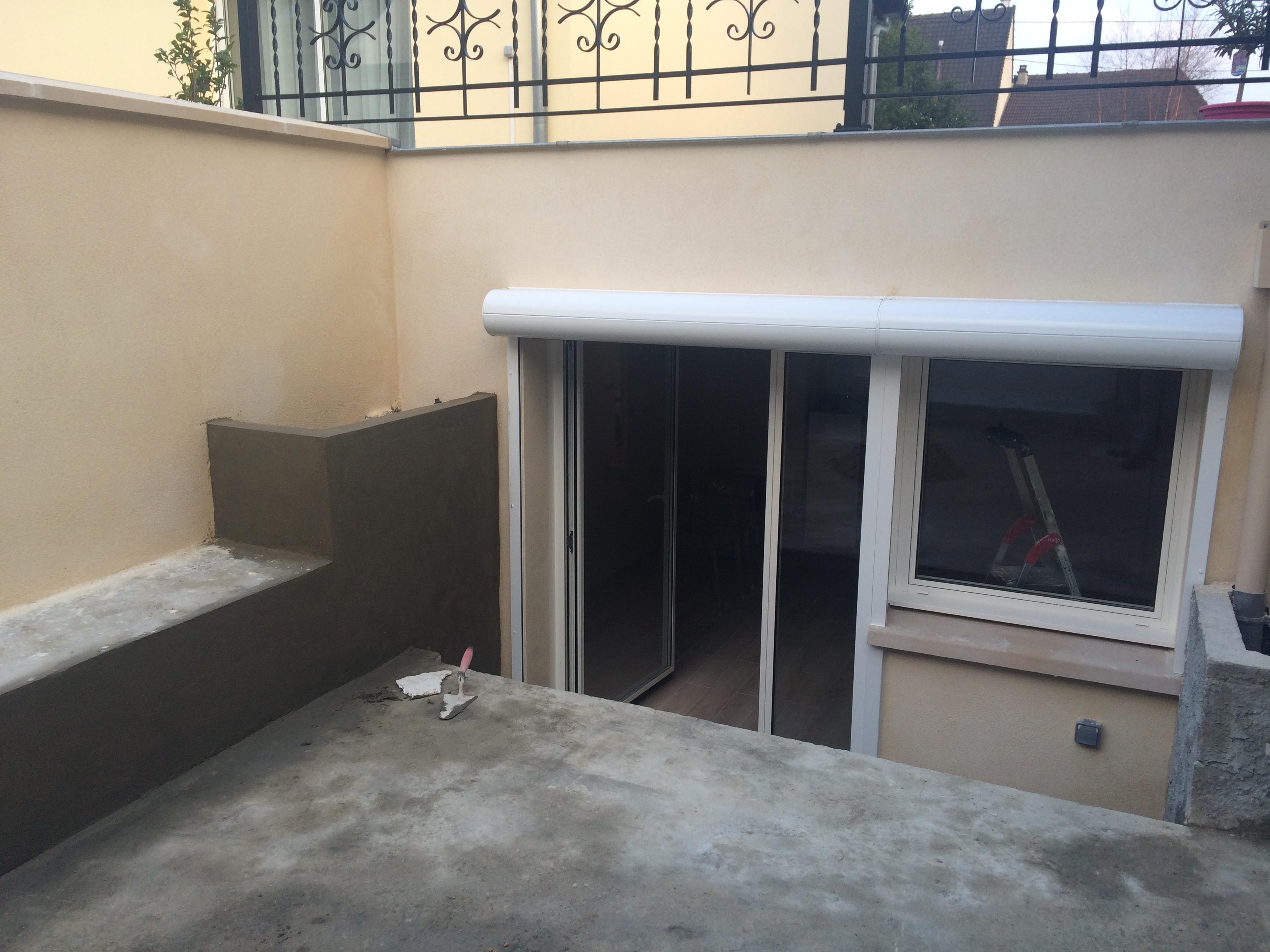 Terrasse créée dans décaissé