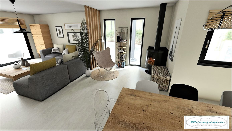 Projection 3D et aménagement d'une future maison en cours de construction